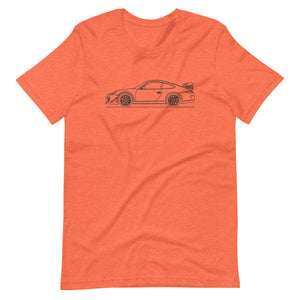 Porsche 911 997.2 GT3 RS T-shirt Heather Orange - Artlines Design