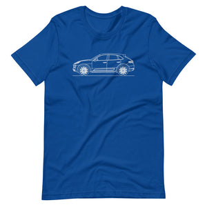 Porsche Macan Turbo 95B T-shirt True Royal - Artlines Design