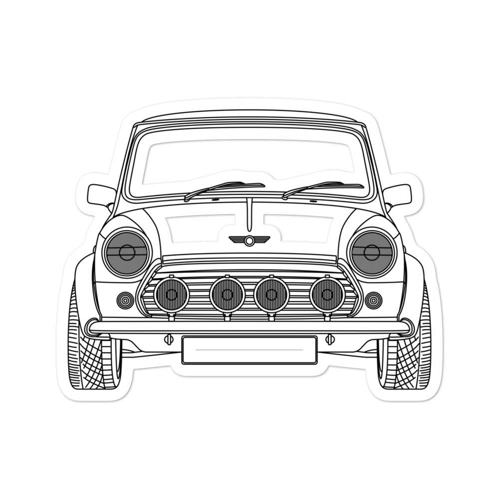 MINI MKI Front Sticker - Artlines Design
