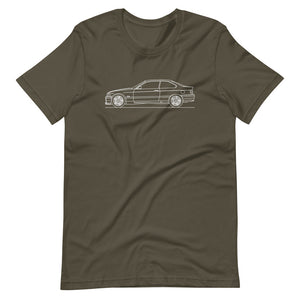 BMW E36 M3 T-shirt Army - Artlines Design