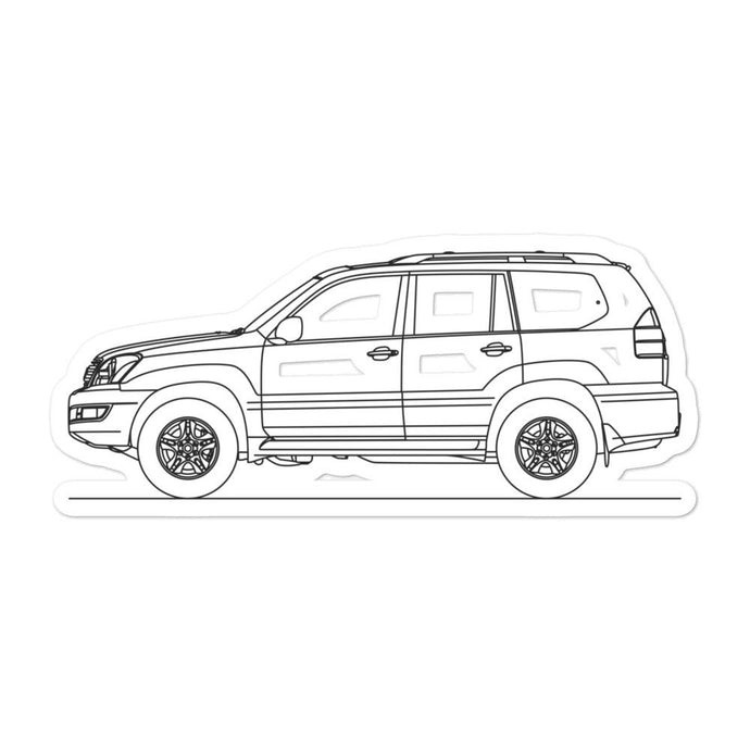 Lexus GX 470 J120 Sticker - Artlines Design