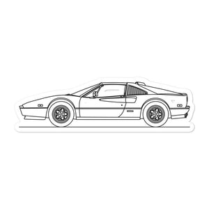 Ferrari 308 GTS Sticker - Artlines Design