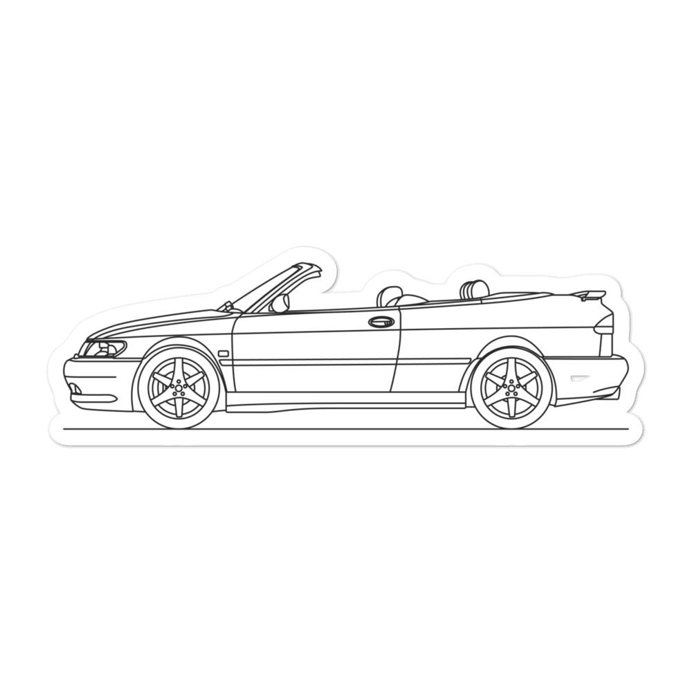 Saab 9-3 Cabrio Sticker - Artlines Design