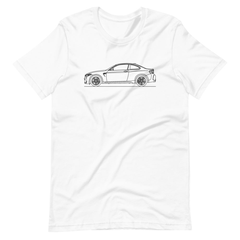 BMW F87 M2 T-shirt White - Artlines Design