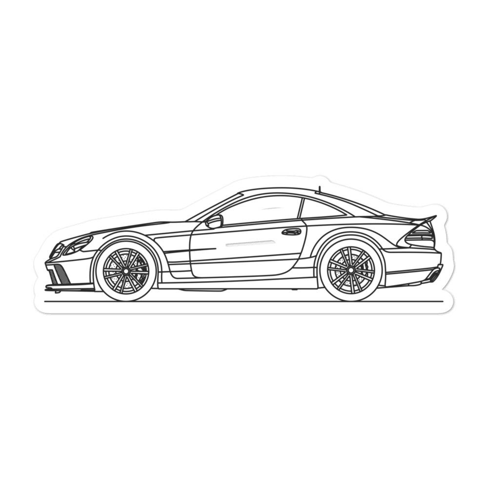 Mercedes-Benz R230 SL 65 AMG Black Series Sticker - Artlines Design