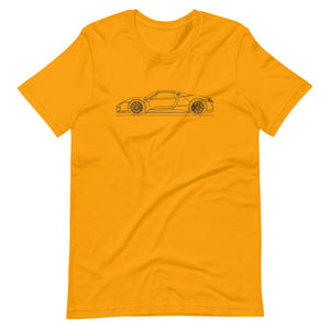 Porsche 918 Spyder T-shirt Gold - Artlines Design