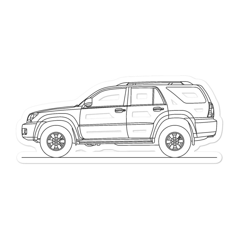 Toyota 4Runner N210 Sticker