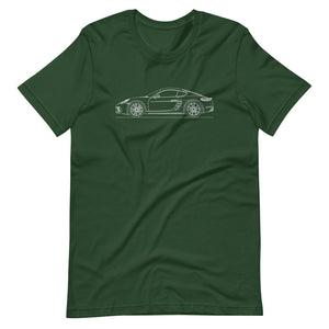Porsche Cayman S 718 T-shirt Forest - Artlines Design