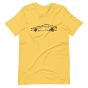 Aston Martin Vantage II Yellow T-shirt - Artlines Design