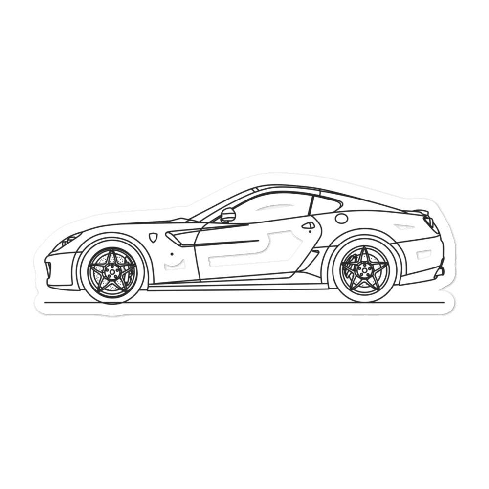 Ferrari 599 GTB Sticker - Artlines Design