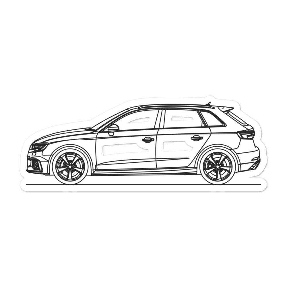 Audi 8V RS3 Sportback Sticker - Artlines Design
