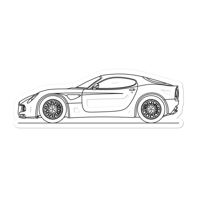 Alfa Romeo 8C Sticker - Artlines Design