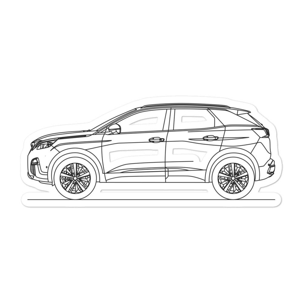 Peugeot 3008 II Sticker - Artlines Design