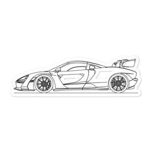 McLaren Senna Sticker - Artlines Design