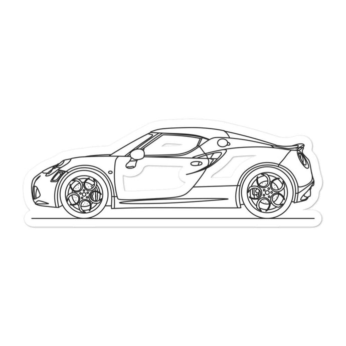 Alfa Romeo 4C Sticker - Artlines Design
