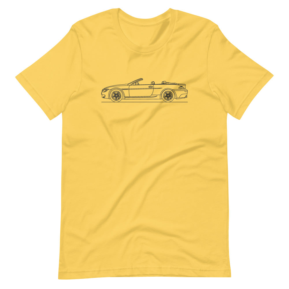 BMW E64 M6 T-shirt Yellow - Artlines Design