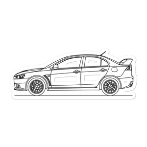 Mitsubishi Lancer Evo X Sticker - Artlines Design