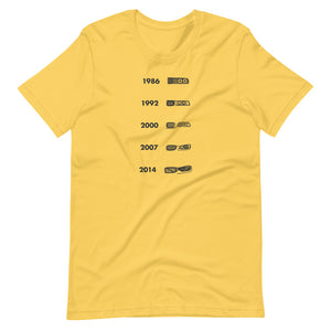 BMW M3 Face Evolution T-shirt Yellow - Artlines Design