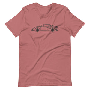 Porsche 911 991.1 Turbo T-shirt Mauve