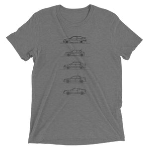 Group A Rally Cars Minimal T-shirt dark grey.
