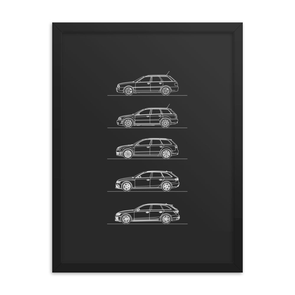 Audi RS4 Avant Evolution Poster