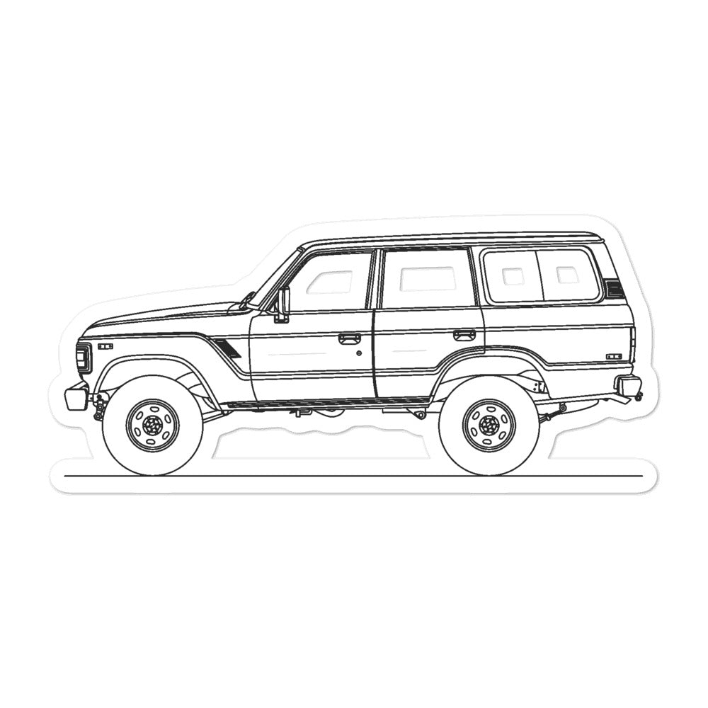 Toyota Land Cruiser J60 Sticker