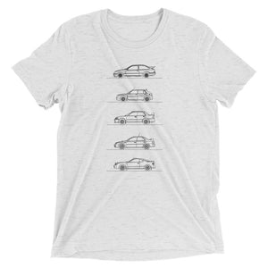 Group A Rally Cars Minimal T-shirt light grey.