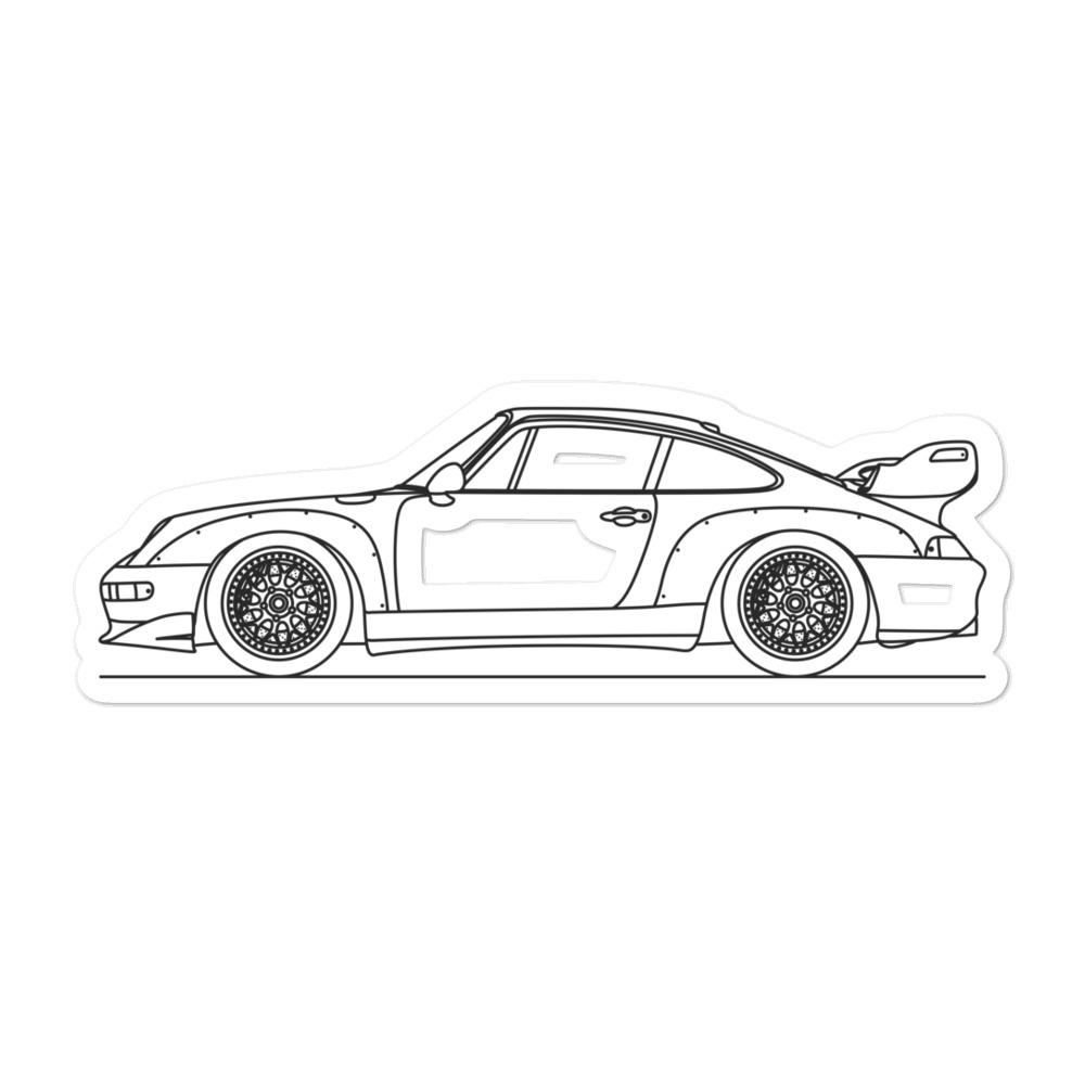 Porsche 911 993 GT2 Sticker - Artlines Design