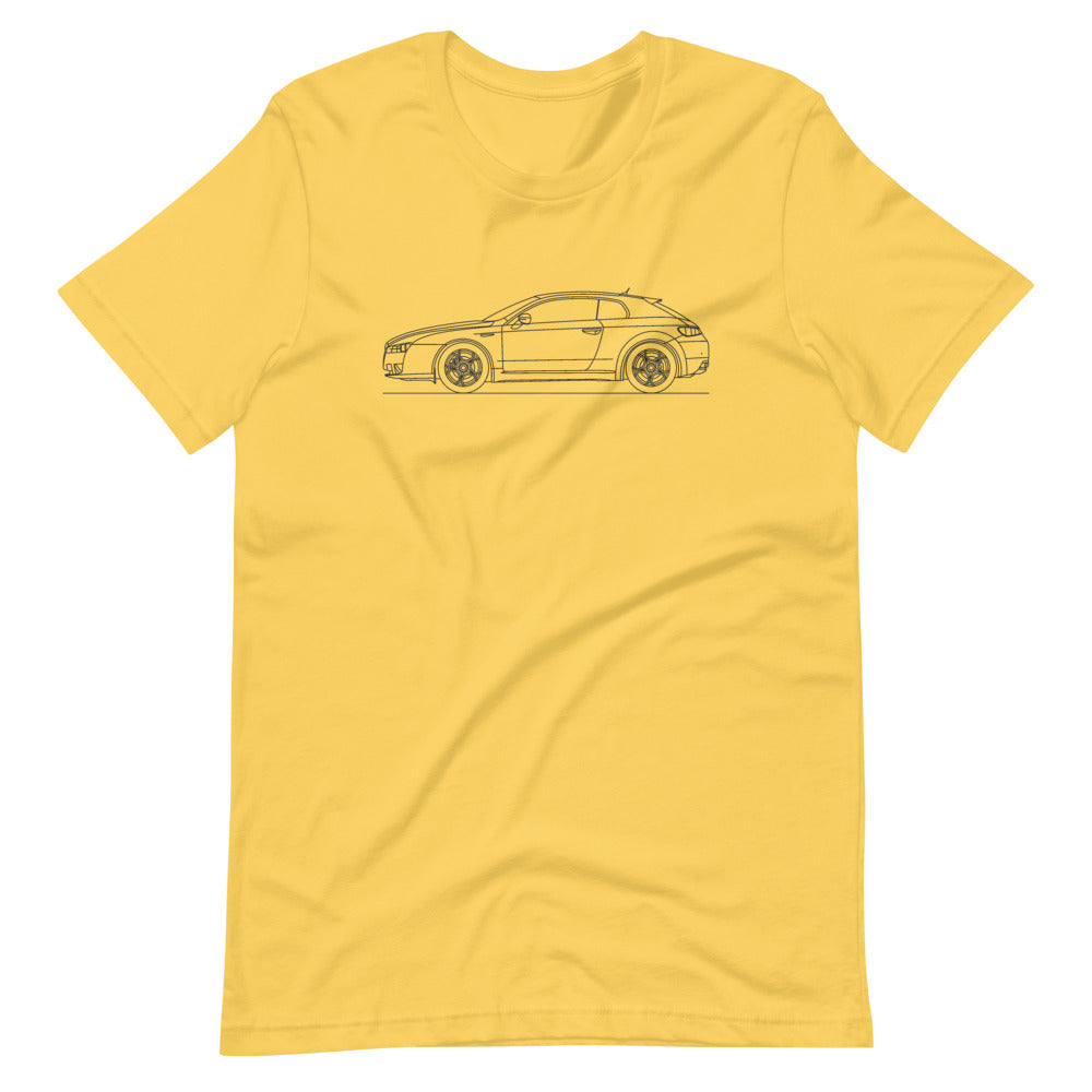 Alfa Romeo Brera Yellow T-shirt - Artlines Design