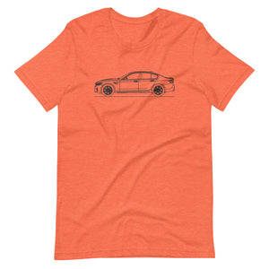 BMW F90 M5 T-shirt Heather Orange - Artlines Design