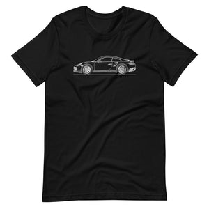 Porsche 911 991.1 Turbo T-shirt Black