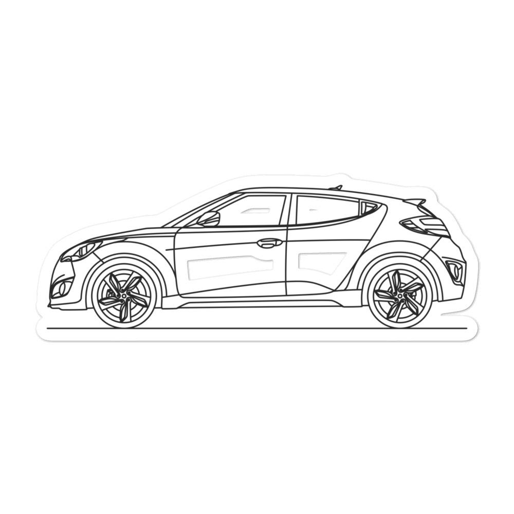 Hyundai Veloster Turbo Sticker - Artlines Design