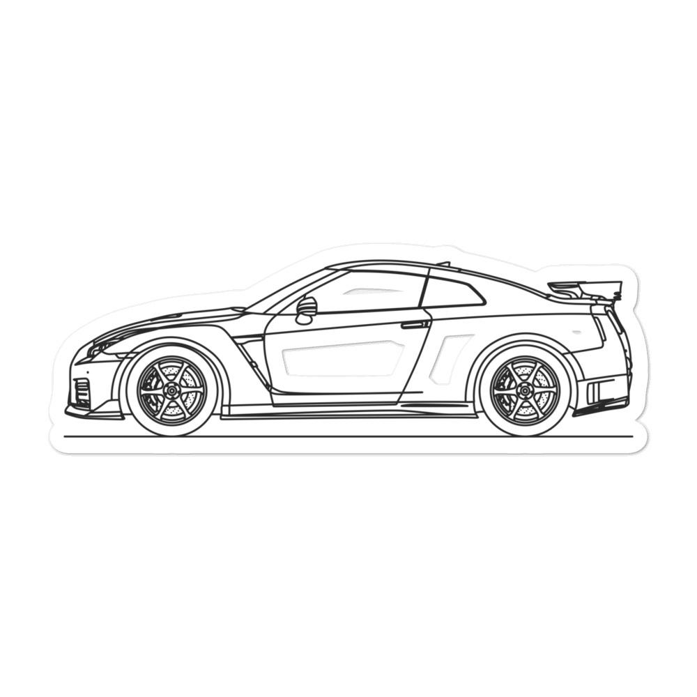 Nissan R35 GT-R Nismo Sticker - Artlines Design