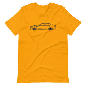 BMW F90 M5 T-shirt Gold - Artlines Design
