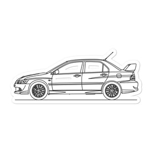 Mitsubishi Lancer Evo VIII Sticker - Artlines Design