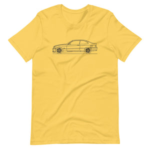 BMW E36 M3 T-shirt Yellow - Artlines Design