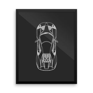 Ford GT Top View Poster
