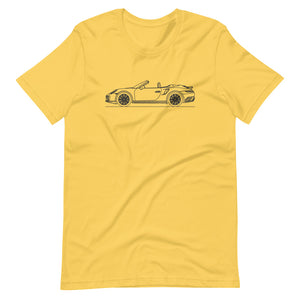 Porsche 911 991.2 Turbo Cabriolet T-shirt Yellow