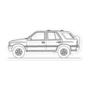 Isuzu Rodeo UCS55 Sticker