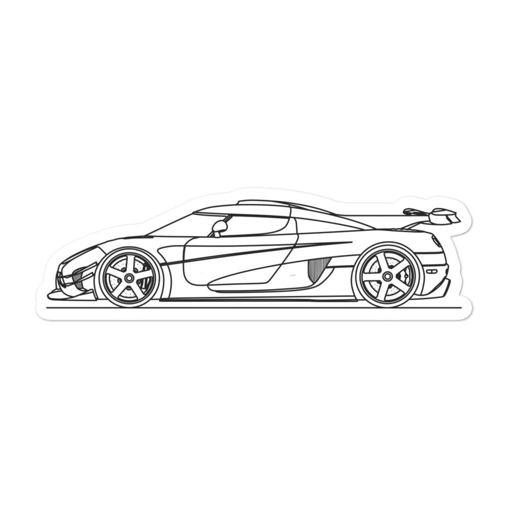 Koenigsegg One:1 Sticker - Artlines Design