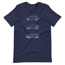 Load image into Gallery viewer, Porsche Cayenne Evolution T-shirt Navy - Artlines Design