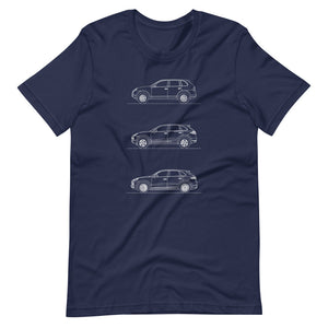 Porsche Cayenne Evolution T-shirt Navy - Artlines Design