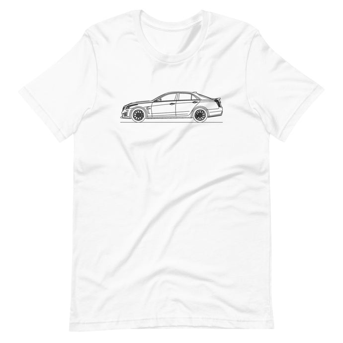 Cadillac CTS-V III T-shirt White - Artlines Design