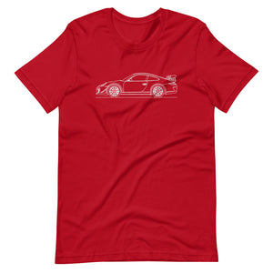 Porsche 911 997.2 GT3 RS T-shirt Red - Artlines Design