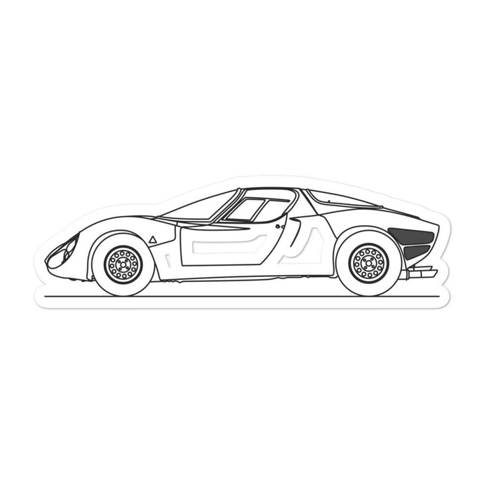 Alfa Romeo 33 Stradale Sticker - Artlines Design