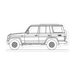Toyota Land Cruiser J70 Sticker