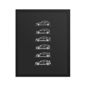 Honda Civic Type R Evolution Poster