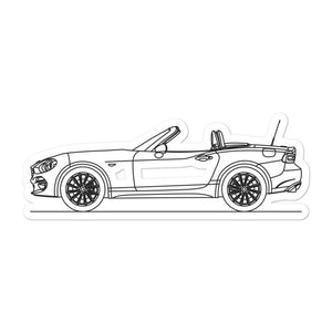 Fiat 124 Spider Sticker - Artlines Design