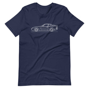 Porsche 944 Turbo S T-shirt Navy - Artlines Design