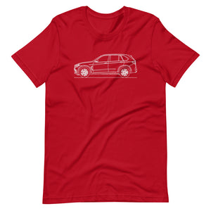 BMW F85 X5 M T-shirt Red - Artlines Design